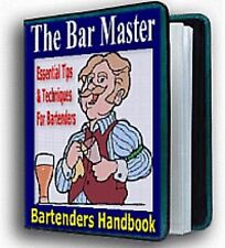 """ The Bar Master "" Bartending Guide Manual - Drink Tips & Techniques"