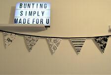 Monochrome Safari bunting Jungle party bedroom decor fabric