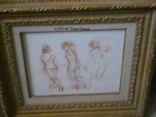 Three Graces  artist proof Litho  Edna Hibel rear