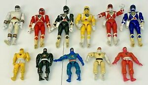 """Power Rangers Bandai Action Figures 8"""" 5"""" Bundle Job Lot Toys 90s 1990s Vintage"""