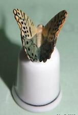 More details for klima porcelain butterfly on thimble green/beige l687