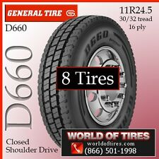 General Commercial Tires D660 16ply 8 Tires 11r24.5 FREE SHIPPING