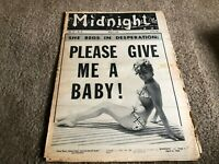 APRIL 6 1964 MIDNIGHT tabloid magazine PLEASE GIVE ME A BABY
