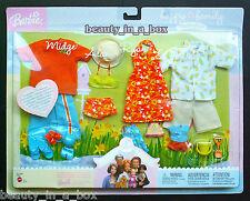Alan & Ryan Midge Nikki Fashion Happy Family Barbie Doll Orange Clothes Outfit