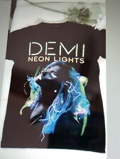 Demi Lovato Neon Lights World Tour 2014 T-Shirt by Tultex Size Small