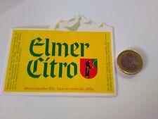 ADESIVO VINTAGE STICKER kleber  elm  citro mineralquellen elm sources minerales