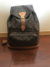 Louis Vuitton Monogram Montsouris GM Backpack 100% Authentic