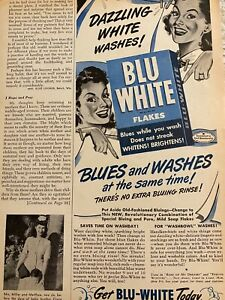 Blu White Flakes, Laundry Soap, Detergent, Vintage Print Ad