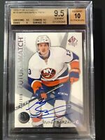2016-17 SP Authentic Mathew Barzal Future Watch Rookie /999 Graded BGS 9.5/10