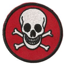 Patch écusson brodé thermocollant patche Skull Tête de mort danger badge