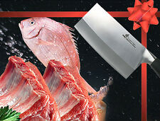 """Japanese Steel Meat Cleaver 6.5"""" Vegetable Chopping Knife 1.8mm thickness Slicer"""