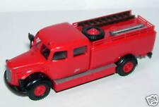 A Brekina Ho 1/87 Truck MB Mercedes Firefighters Garnet Scale