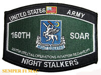 160TH AVIATION NIGHT STALKERS US ARMY PATCH HELICOPTER NAVY SEAL TEAM BIN LADEN