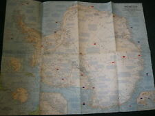 1963 ANARCTICA NATIONAL GEOGRAPHIC MAP