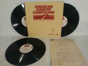 American Country Countdown with BOB KINGSLEY Chart Date 2-23-85 3 LP Radio Show