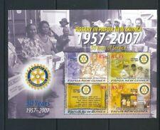 Papua New Guinea PNG 2007 Rotary Mini Sheet MNH (Pap172)