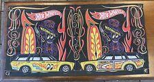 "Hot Wheels Flag Mooneyes '71 Datsun 510 Wagon 34"" x 17"" Banner Convention Japan"