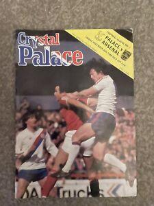 crystal palace V Arsenal 1980/81 Division One Kenny Samson  Played Programme