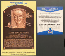 Jim Thome HOF Signed Yellow Plaque Post Card AUTO Autograph Indians Beckett