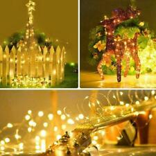 10M LED Solar String Lights Waterproof Copper Wire Outdoor Party Garden V6I5