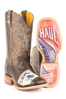 Tin Haul Boots Tin Haul Men's Black Jack Western Cowboy Boots House of Cards