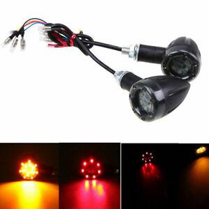 Top Red/Amber 13LED Motor Bullet Turn Signal Light Indicator Universal Blinker