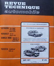 Revue technique TOYOTA COROLLA 1200 cm3 RTA 370 1977 + SIMCA RALLYE 1 et 2 CX R6