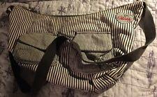 Billabong Hobo Large Tote Duffle Blue & White Pin Striped Denim