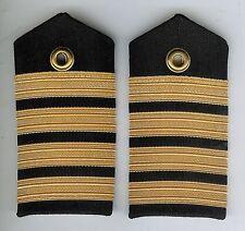 Pair Obsolete Canadian Navy Captain Female Shoulder Boards