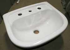 NEW - Caroma Flora 3 Taphole Wall Basin Only White 641230W