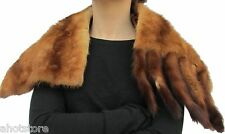 Fur Pelt Mink Stole Throw Cape Wrap Vintage Lap Cover Mid Century 1940's Costume