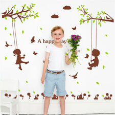 Happy Child Swing Room Home Decor Removable Wall Sticker Decal Decoration