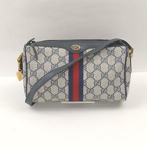 Vintage Gucci Shoulder Bag  Navy Blue PVC 633116