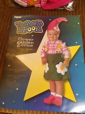 FLOWER GARDEN GNOME toddler costume 2T 12-18 months CUTE halloween GREAT shape