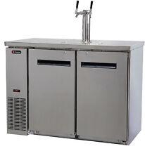 Kegerator Commercial-Grade Dual-Tap Beer Cooler Keg Dispenser