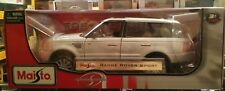 """Maisto Special Edition """"Range Rover Sport"""" Silver 1:18 New In Box. Opening Parts"""