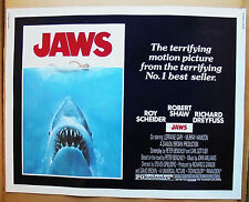 Jaws (1975) Original Half-Sheet 22 X 28 Movie Poster - Rolled - Mint