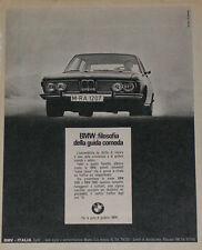 Advert Pubblicità 1970 BMW 2500 2800 E3 NEW SIX