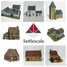 6 mm conjunto de aldea wargame edificios - (8 piezas) ×