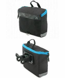 Fahrradtasche Lenkertasche mit Halterung wie Klickfix Fahrradkorb Schwarz Blau