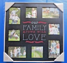 "FRAME, ""OUR FAMILY GROWS WITH LOVE""  PHOTO PICTURE Black Finish NEW NIB $50 Valu"