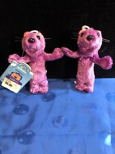 1999 Bear In The Big Blue House Mini Plush Purple PIP or POP Otters Applause New
