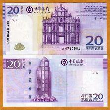 Macao / Macau, 20 Patacas, 2008, Bank of China, P-109 (109a), UNC