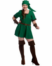 Women's Fantasy Game Green Elf Warrior Princess Costume Adult Halloween Size M