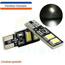 LED VEILLEUSE (X2) W5W T10 Canbus ANTI ERREUR ODB BLANC XENON