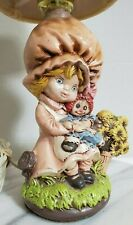 Rare Holly Hobbie Holding Raggedy Ann Table Desk Lamp 70's Strawberry Shortcake