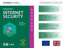 KASPERSKY INTERNET SECURITY 1 PC OR DEVICE 1 YEAR EU & UK GENUINE LICENSE EMAIL