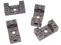 LEGO Technik - 4 x Lochstein / Kasten 2x4x1 1/3 dunkelgrau / 18975 NEUWARE