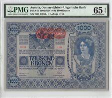 Austria 1902 (ND 1919) P-61 PMG Gem UNC 65 EPQ 1000 Kronen