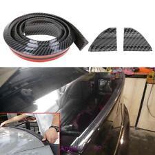 Carbon Fiber Rubber Car Rear Spoiler 40mmx1.5m Exterior Trunk Wing Sticker Kit